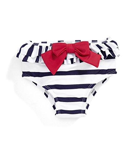 Mamas & Papas Frill Swim, Set di Costumi da Bagno Bimbo, Multicoloured (Navy Stripe), 9-12 Mesi