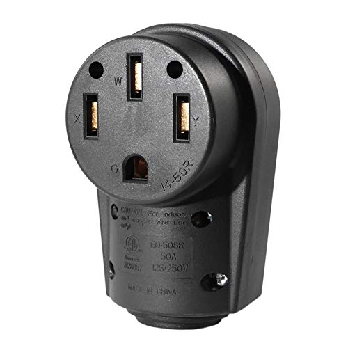 Everpert 50 Amp RV Buchse Stecker ergonomischer Griff Ersatz Elektrischer Adapter -