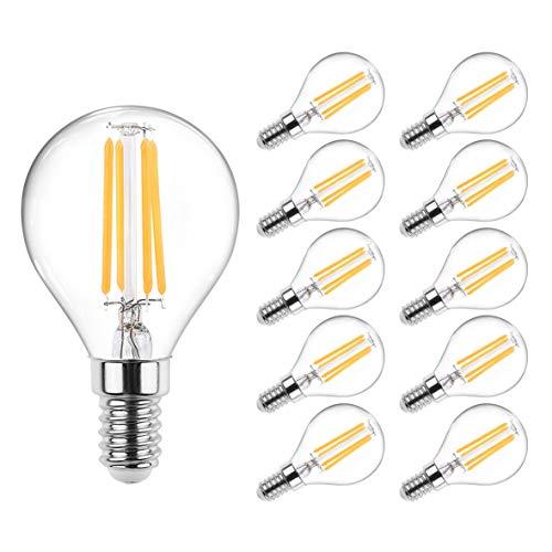 Veelicht 10er Pack E14 LED Lampe, 450LM, 4W, Ersatz für 40W Halogenlampen,LED Birne als Kolbenlampe, Klar,G45 LED Mini Globe, Nicht Dimmbar, Warmweiß 2700K