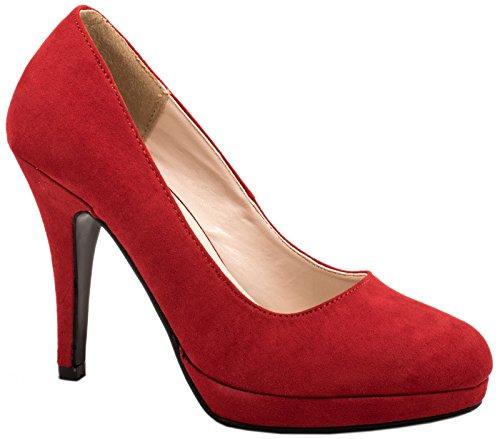 Elara - Scarpe con plateau Donna , Rosso (rosso), 37 EU