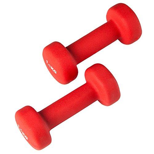 Ultrasport Gymnastikhanteln  2er-Set Aerobic Hanteln , 2 x 1.0 kg