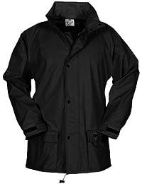Helly Hansen Workwear Hombre impertech Deluxe Lluvia y Chaqueta de Pesca - Negro -