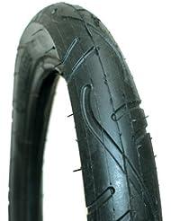 Rubena Slick Tread - Neumáticos para silla da paseo, tamaño 10 x 1.75/2 pulgadas, color Negro