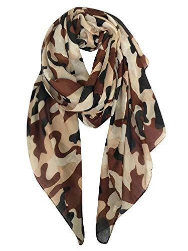 8fae3d52d1d0f HX Mode Schals Damenmode Leichter Reiseschal Basic Camouflage Print mit  Schal Mantel Gemütliche und weiche Tücher