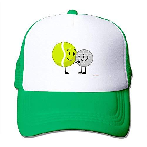 Estrange Adult's Tennis Ball Golf Ball Youth Mesh Baseball Cap Summer Adjustable Trucker Hat -