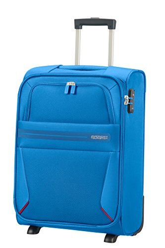 American Tourister Summer Voyager – Upright 55/20 Equipaje de mano, 55 cm, 38.5 liters, Azul (Breeze Blue)