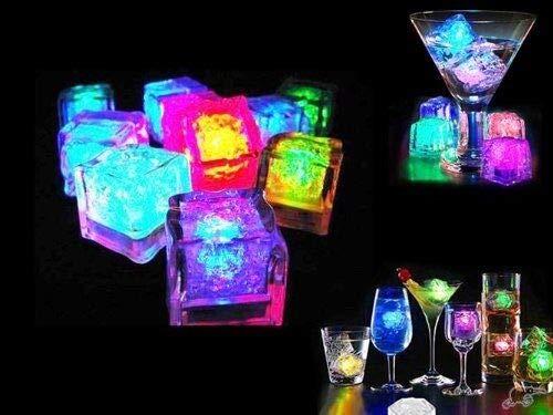 Amazing Crystal Gifts Eiswürfel mit blinkenden LEDs, 12 Stück