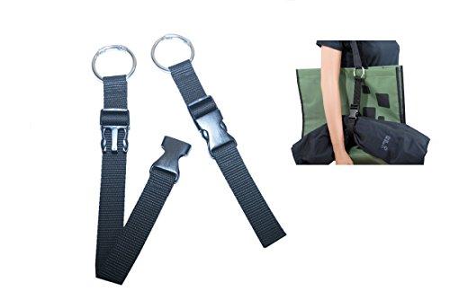 CarryBelt Bag & Jacket Gripper - Jackenhalter für Tasche in schwarz - Utensilienhalter - Outdoor - Reisen - Gepäck