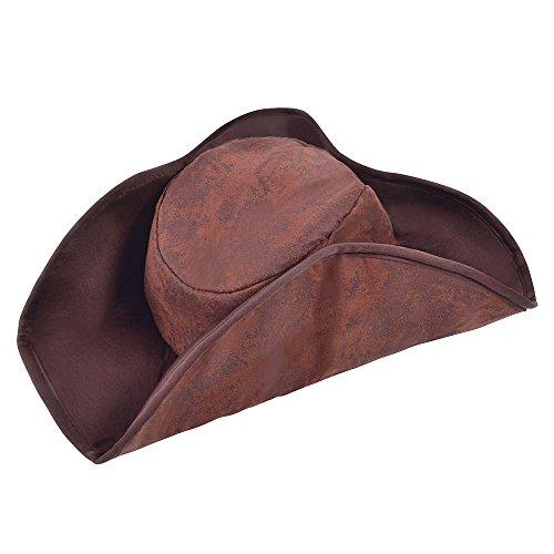 Bristol Novelty bh360Pirat Hat Distressed Braun, One (Mantel Und Degen Hut)