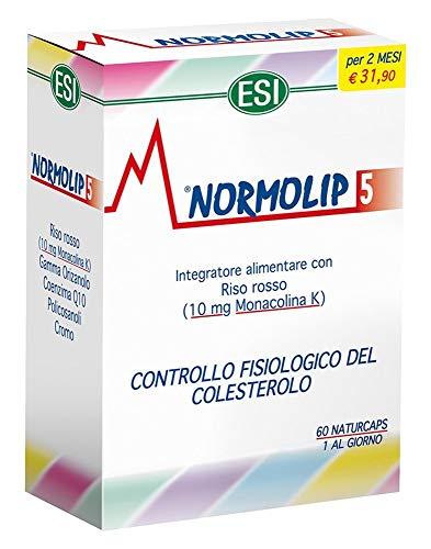 Esi Normolip 5 Complemento Alimenticio para el Control del Colesterol - 60 Cápsulas