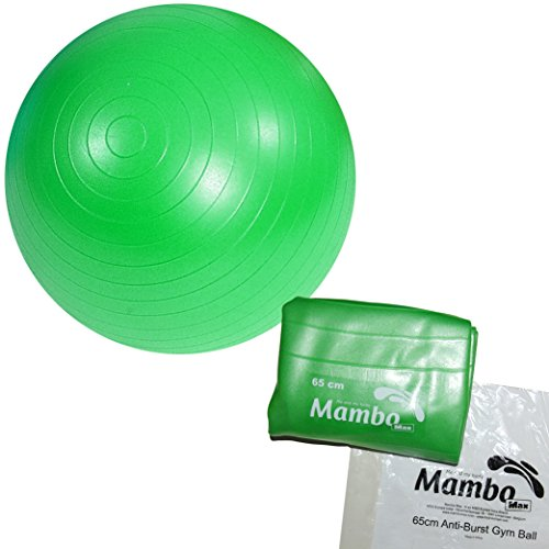 Anti-Burst Gymnastikball/Fitnessball/Sitzball/Pilatesball mit 2 Stöpseln grün 65 CM / verde (Max-verde-grün)