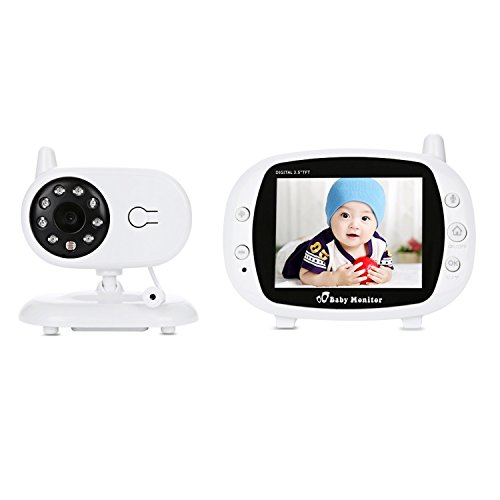 Amody US-Stecker 3,5 Zoll 2.4 GHz Wireless TFT LCD Video Baby Monitor mit Nachtsicht weiß - Baby-video-monitor-sommer