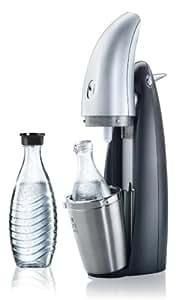 SodaStream Wassersprudler Penguin (mit 1 x CO2-Zylinder 60L und 2 x 0,6L Glaskaraffen)