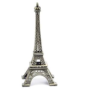 PROW® 15cm Paris Eiffelturm Eisen Handwerk Architektur Modell Desktop Home Dekoration Kunst Geschenk, Bronze