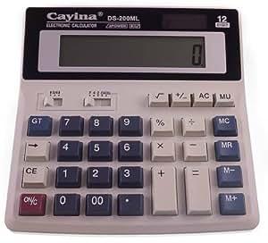 Grand Bureau Calculatrice pour Etudiant bureau bureau Solaire Batterie Grande Taille clé
