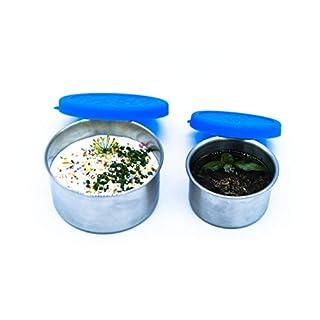 Alpin Loacker 2 auslaufsichere Edelstahl Behälter, Lunchbox, Container für Dressing und Dips - der dichte Vorratsbehälter, Dosen für Ihre flüssigen Lebensmittel.