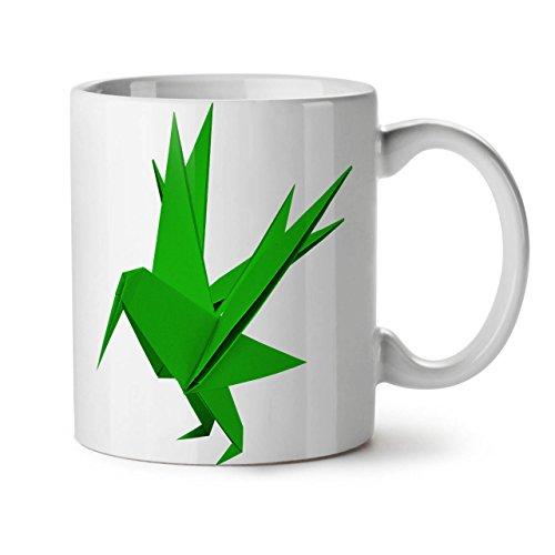 Wellcoda Origami Vogel Kunst Mode Keramiktasse, Japan - 11 oz Tasse - Großer, Easy-Grip-Griff, Zwei-seitiger Druck, Ideal für Kaffee- und Teetrinker