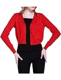 1ef51a04d9832 Femme Cardigan Élégant Uni Manche Veste en Tricot Printemps Automne Mode  Vintage Casual Confortable Chic Manteau