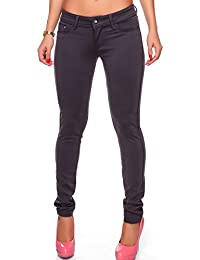 24brands - Damen Skinny Hose Treggings Röhrenhose Slim - 965