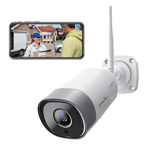 Oferta de Wansview - Cámara de vigilancia exterior, cámara IP WiFi 1080P WiFi IP66 impermeable con detección de movimiento, audio bidireccional, ranura para tarjeta Micro SD, ONVIF y funciona con Alexa W5