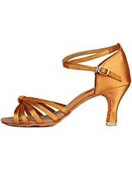HIPPOSEUS Scarpe da Ballo per Donna Scarpe da Ballo Latino con Tacco 5CM/7CM, Model-IT217