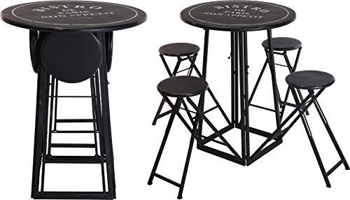 Paris Bar Stuhl (Fair-Shopping Garten-möbel Klapp-Tisch Klapp-Stuhl Outdoor Bistro-Set Camping-Tisch Vintage-Shabby-Chic Metall B010)