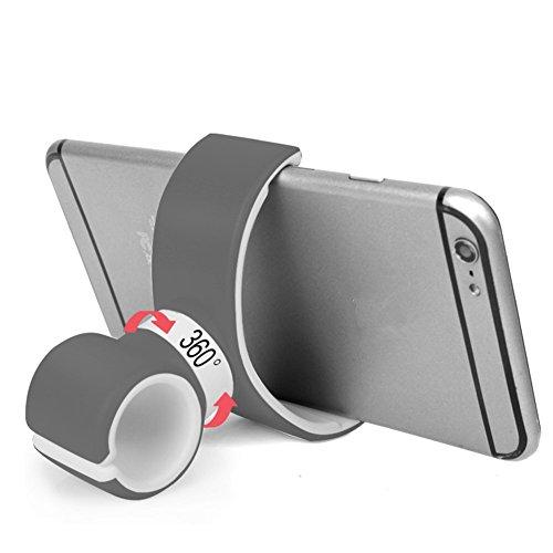 Gyges Handy-Halterung fürs Auto, multifunktional, universal, um 360 Grad drehbar, für Auto-Lüftung, Lenkrad, Fahrradlenker, für Handy, iPhone, Samsung, GPS, Taschenlampe