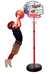 Kids Children's Complete Magic Shoot Basketball Sports Game Hoop Set with Inflatable Basketball - Indoor Outdoor Enjoyment