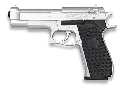 Softair Pistole. Licht. PVC-Kugeln - 6mm Dock Silber. HFC 0,27 Joule Energie -