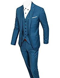 SANKE Herren Classic Fit 3-teilige Anzug Blazer Jacke Tux Weste   Hose 188de30c81