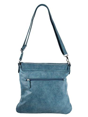 Bag Street, Borsa a spalla donna blu Blau grigio/nero