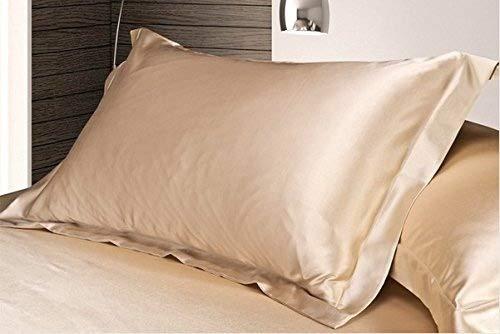 50cm 70cm, Beige - 2pc New Queen/Standard Silk y Satin Pillow Case Multiple Colours Apricot