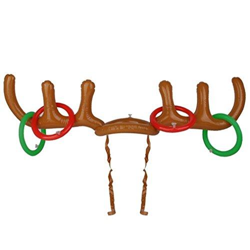 re Rentier-Geweih-Hut mit Ringen für Weihnachten (Rentier Mit Geweih)
