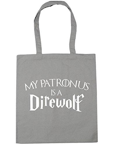 hippowarehouse-my-patronus-is-a-direwolf-tote-shopping-gym-beach-bag-42cm-x38cm-10-litres