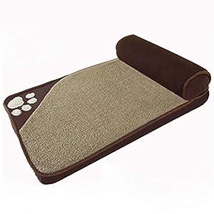 Komfort-Haustierbetten für Hunde und Katzen Orthopädisches Schlafsofa Memory Foam Matratze Kissen Abnehmbarer Bezug Leicht zu reinigen Weiche Die Touch-Familie,Brown,S
