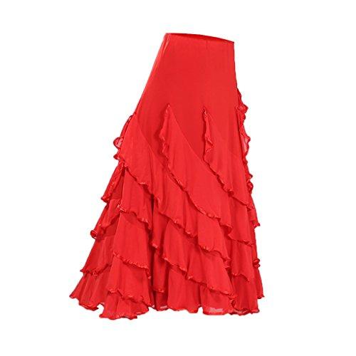 Baoblaze Vestido Flamenca Ropa Baile Accesorios Mujer