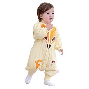 Chils uessy Sacco a pelo baby ganzjahres/ganzjaehrig neonati e bambini sacco a pelo con piedini in cotone giallo Gelb L/Koerpergroesse 80-95cm