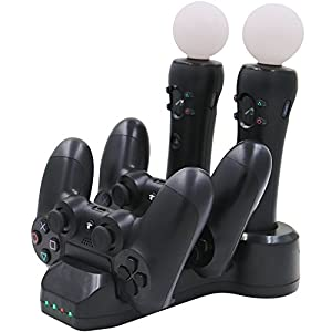 Aresh PSVR Move Controller / PS4 Controller Ladestation + LED Ladegerät Ladeständer für PlayStation VR PlayStation 4 Controller [playstation_4]