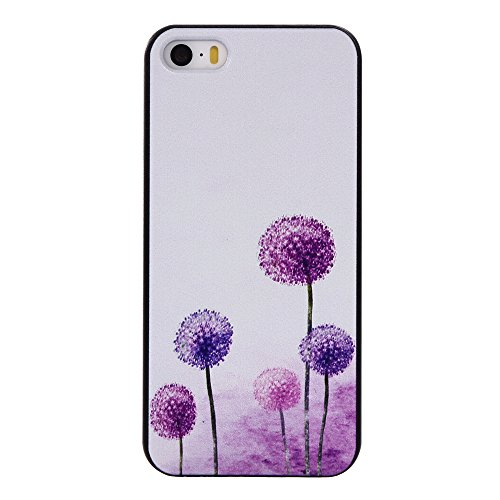 MOONCASE iPhone 5/5s/SE Coque, Slim Fit Hardshell Back Coque Etui Case Cover pour iPhone 5/5s/SE [Ne me touchez pas] pissenlit