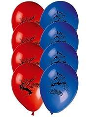 Idea Regalo - Procos 81536 - Palloncini Stampati Ultimate Spider Man, 8 Pezzi, Rosso/Blu
