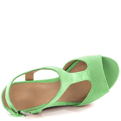 EKS , Sandales Bout ouvert femme Vert