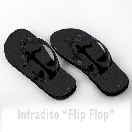 Infradito FlipFlop Personalizzate Bilancia Segno Zodiacale Nero Zodiaco