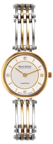 Bruno Söhnle Women's Quartz Watch with Silver Latina Analogue Quartz Stainless Steel Coated 17 – 23103 – 242