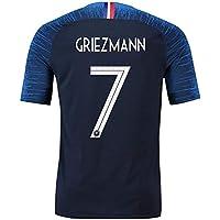 TopFans Maillots de Football de France Soccer Jersey 2018/France de Football T-Shirt - Antoine Griezmann/Kylian MBAPPE - Taille Adulte Homme