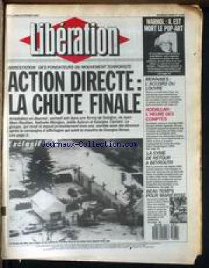 LIBERATION [No 1792] du 23/02/1987 - WARHOL - IL E...
