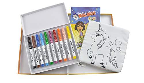 Malinos 300015, Malzauber, Bundle Babyzauber Stifte + Malbuch, abwaschbar und wiederverwenbar, Bunt