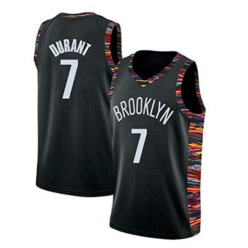 runvian Camiseta de Baloncesto para Hombre, NBA Brooklyn Nets #7 Kevin Durant Camisa Bordada de Swingman de Malla