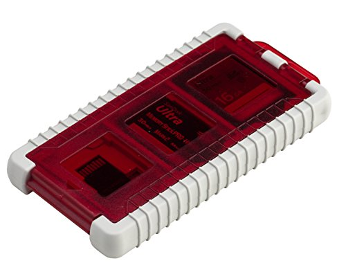 Flash-multimedia-speicherkarte (Gepe 3856E CardSafe Basic Duo für Compact Flash, SD, Smart Media, Multimedia-Karte und Memory Stick (Onyx), CardSafe Mini, rot)