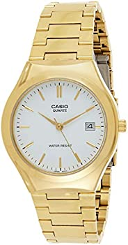 Casio Men's White Dial Stainless Steel Analog Watch - MTP-1170N-7