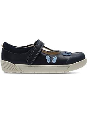 Clarks primer zapato de lilfolkflo inf niña t Navy 9 F